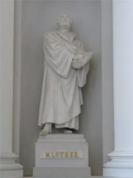 Imagem de Lutero presente na Igreja Luterana na Suiça