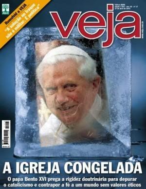Capa da Revista Veja por ocasião da eleição do papa Bento XVI.