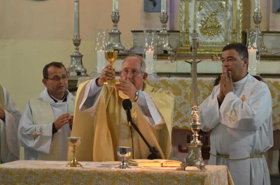 Pe. Jairo, Dom José Antonio e Pe. Paulo Sérgio