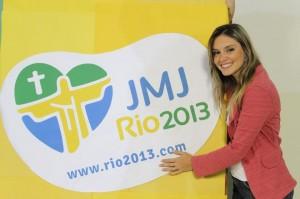 A cantora Ana Gabriela se apresentará no palco da JMJ. Amanhã estará no Chega logo JMJ.