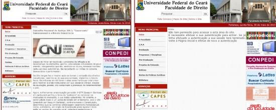 Universidade retirou artigo do espaço público virtual.
