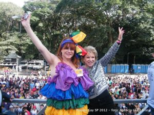 Marta Suplicy em Parada Gay.