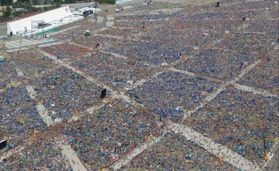 Imagem da Vigília na última JMJ ocorrida em Madrid, 2011.