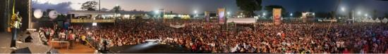 Imagem panorâmica do Festival Halleluya realizado em Fortaleza.
