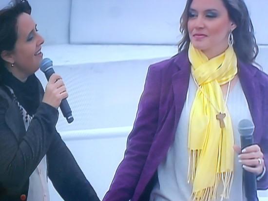 Suely Façanha e Ana Gabriela.