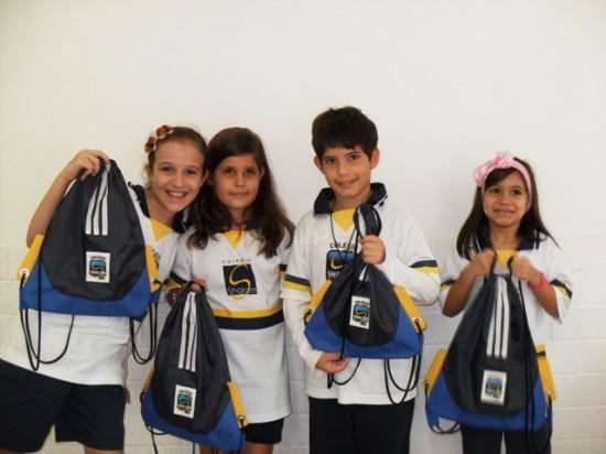 Alunos do Colégio Shalom
