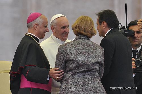 Emmir com o Papa Francisco e Moysés Azevedo