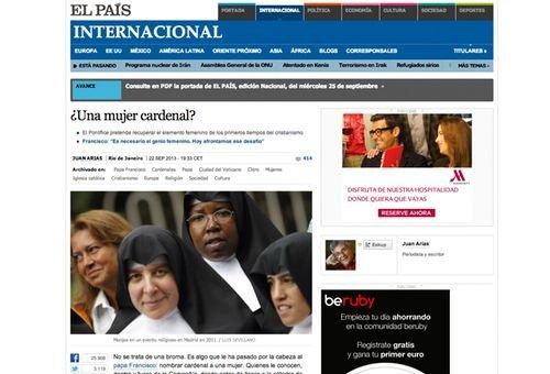 El País publica mentira como verdade.