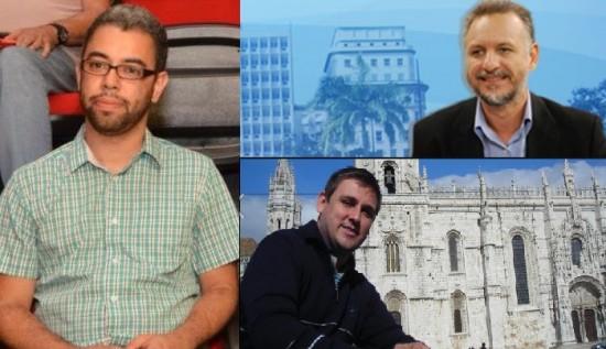Rafael Alberto, Plínio Bortolotti e Rodrigo Luiz são os facilitadores do encontro.