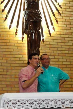 Padre Reginaldo Manzotti e Padre Gilson Soares.