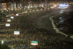 Imagem da Vigília da JMJ Rio 2013.