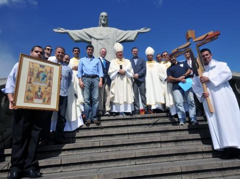 Símbolos foram abençoados pelo Papa Francisco.