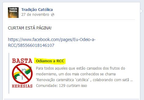 Grupo promove ódio através da internet contra membros da Igreja Católica.