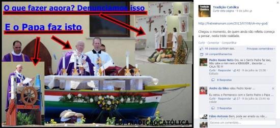 Querem ser mais católicos que o Papa.