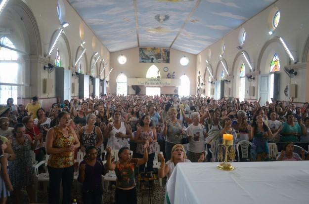 Imagem da última Missa dos Ouvintes na Igreja da Piedade.