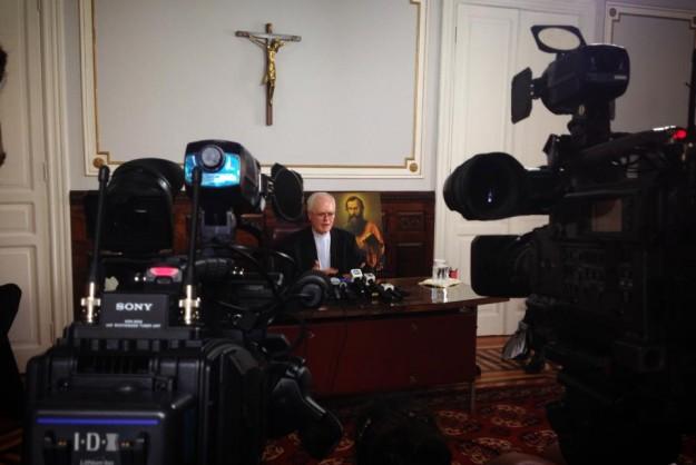 Nesta quinta-feira Dom Odilo conversou com a imprensa.
