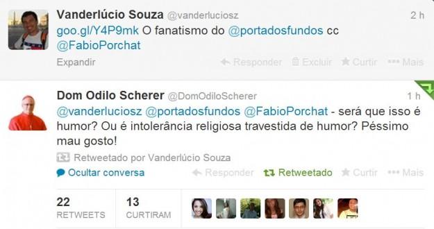 Dom Odilo questiona teor de vídeo do Porta dos Fundos pelo Twitter.
