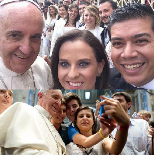 Papa Francisco e a moda dos selfie