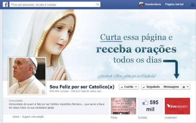 Capa da página Sou Feliz Por Ser Católico.