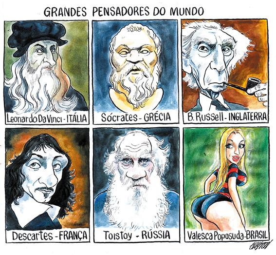 Charge do cartunista Clayton publicada no Jornal O Povo dia 10 de abril.