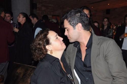 Jimenez com seu primeiro namorado, o ator  Rodrigo Phavanello