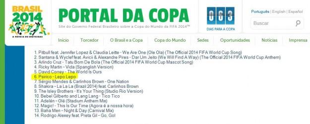 Lepo-lepo escolhida para álbum oficial da Copa do Mundo