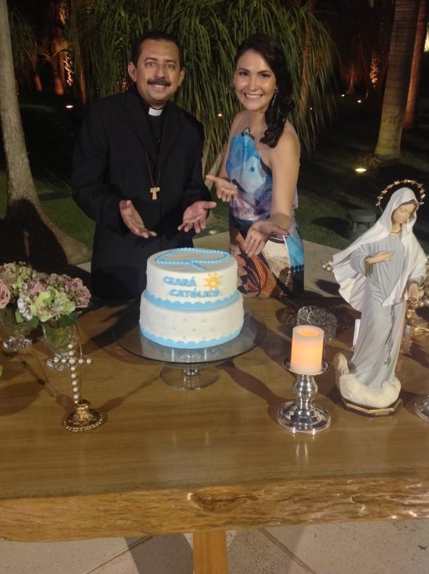 Padre Antonio Furtado e Ana Clara.