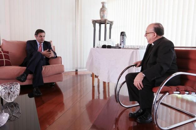 Pré-candidato visita presidente da CNBB