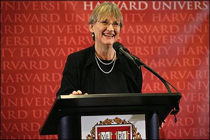 Presidente da Harvard, Drew Faust.