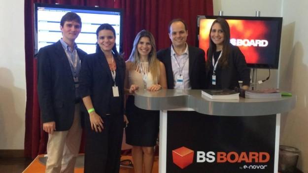 Equipe daE-NOVAR apresentando BSBoard no  CIO Meeting 2014. Foto: reprodução/Facebook