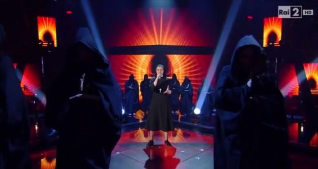 Irmã Cristina em sua recente apresentação no The Voice Italy