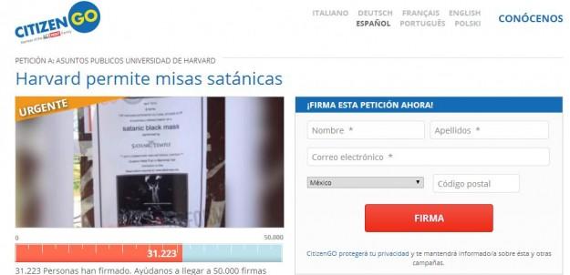 Assine a petição online.