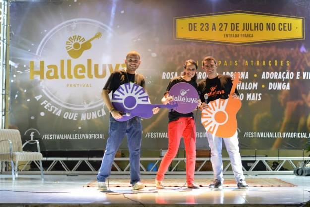 Apresentadores do lançamento do #NovoHalleluya