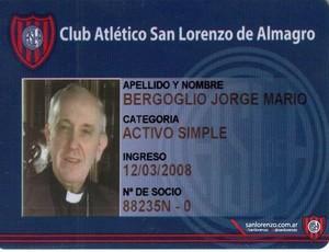 Papa é fã de carteirinha do San Lorenzo.