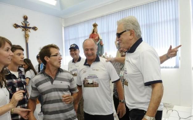 Felipão no Santuário de Nossa Senhora de Caravaggio. (Foto: Jonas Ramos/ Agência RBS). Origem> Site Lance Net.