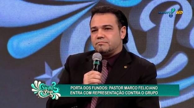 Pastor Marco Feliciano durante o programa Super Pop.
