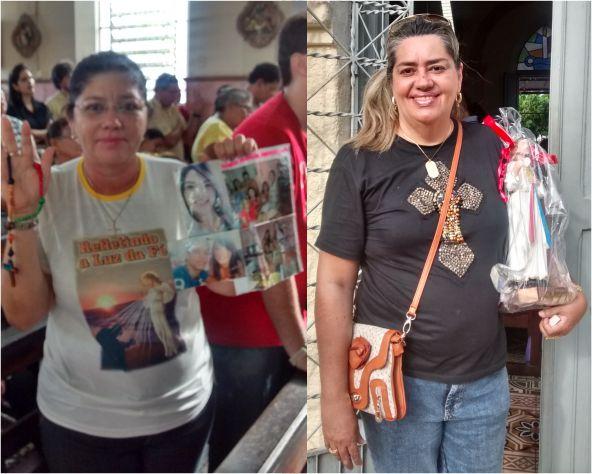 Da esquerda para direita: ouvintes Ana Cristina e Solange Moraes que mudaram de vida após ouvir a rádio Dom Bosco.