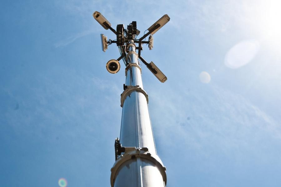 Plataforma de observação elevada.