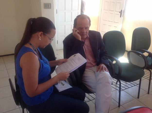 Um dos organizadores da Caminhada com Maria recebeu a imprensa nesta manhã de segunda-feira.