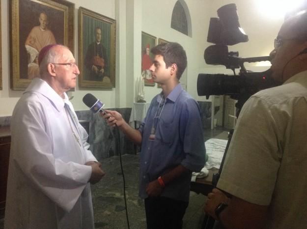 Dom José Antonio em entrevista a Rede Vida.