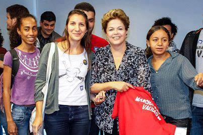 Presidente Dilma recebe integrantes da Marcha das Vadias.
