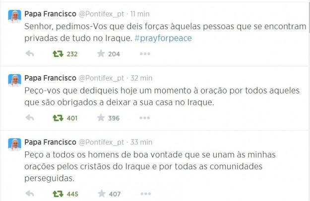 Papa renova pedido pela Paz.