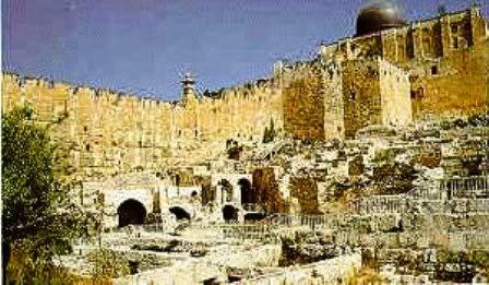 Ruínas do verdadeiro Templo de Salomão.
