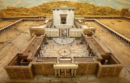 Maquete do Templo de Salomão.