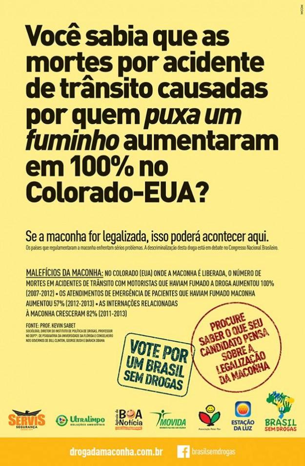 Campanha estampou página de jornais, bus door e out door.