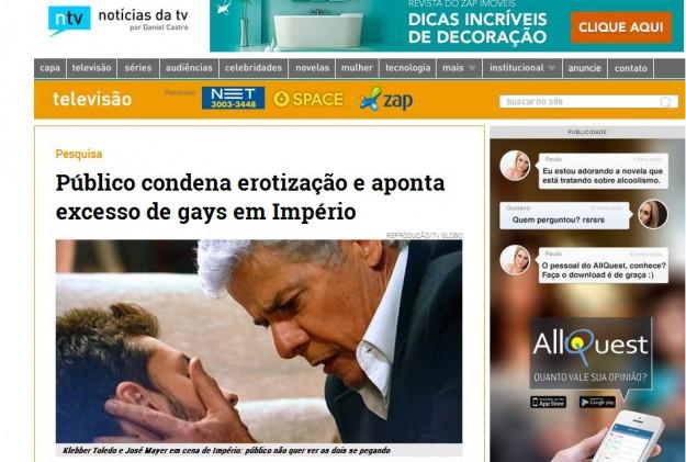 Público rejeita cenas gays.