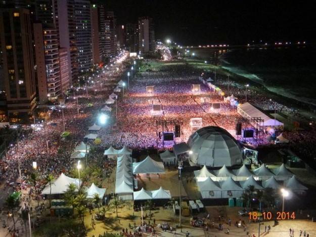 Evento reúne 1,8 milhão de pessoas. Foto: Setor de Comunicação da Arquidiocese de Fortaleza.