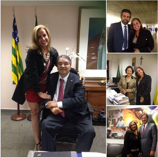 Rossana Brasil com os senadores que são contra a Legalização da Maconha para uso recreativo.