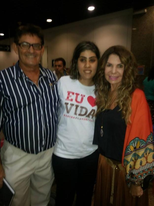 Mírian, o pai e Elba Ramalho.