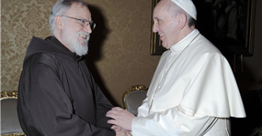 Frei Raniero e Papa Francisco.